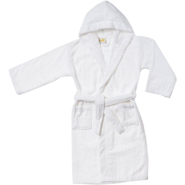 West Oak Lane Premium Long-Staple Combed 100% Cotton Terry Cloth Bathrobe by Viv + Rae
